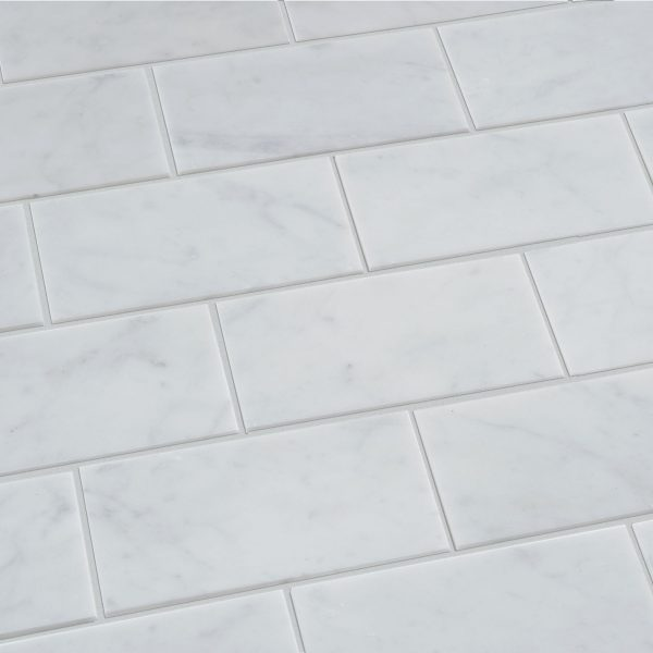 Carrara metro tile polished