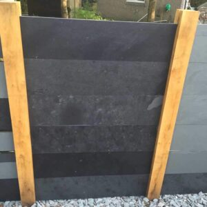 black slate fence panels