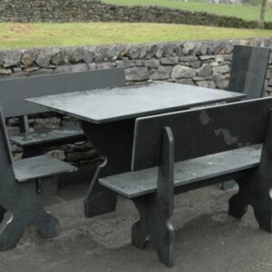 Black Slate Garden Furniture Bundle 2