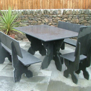 Black Slate Garden Furniture Bundle 4