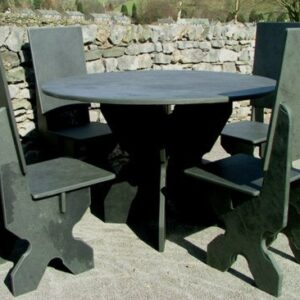 Black Slate Garden Furniture Bundle 6