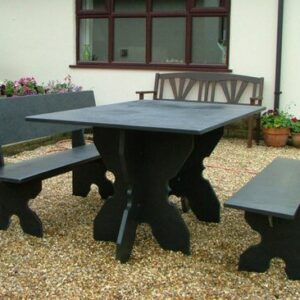 Black Slate Garden Furniture Bundle 1
