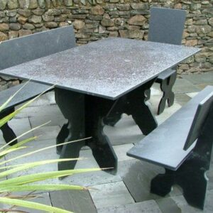 Black Slate Garden Furniture Bundle 3