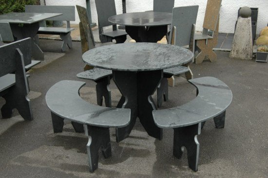 Black Slate Garden Furniture Bundle 5