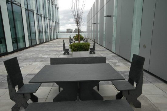 Black Slate Rectangular Table