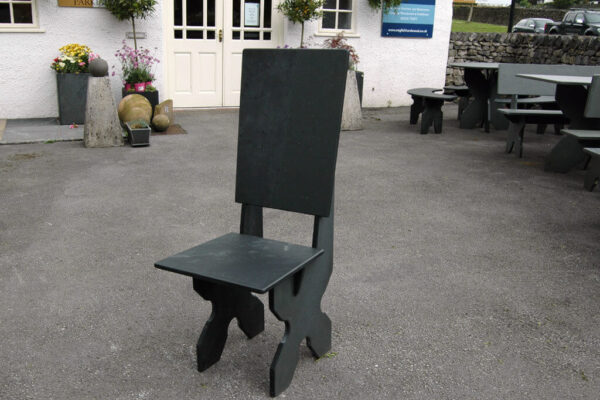 Black Slate Garden Chair